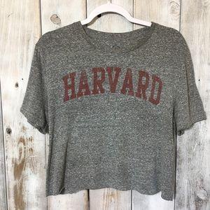 Harvard Custom Cut Crop Top Well Worn Size Medium
